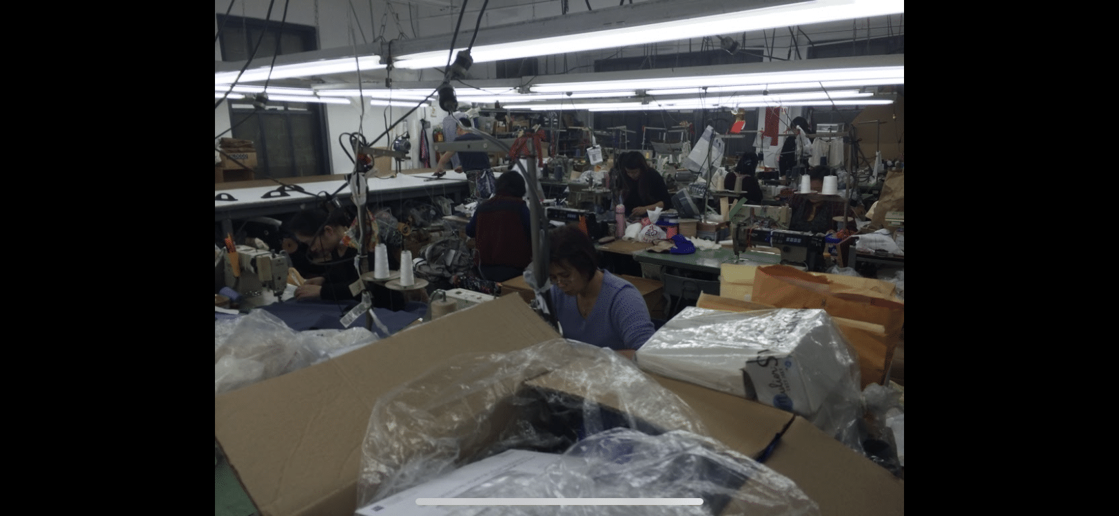 Picture of the inside of definitely not a NYC sweatshop