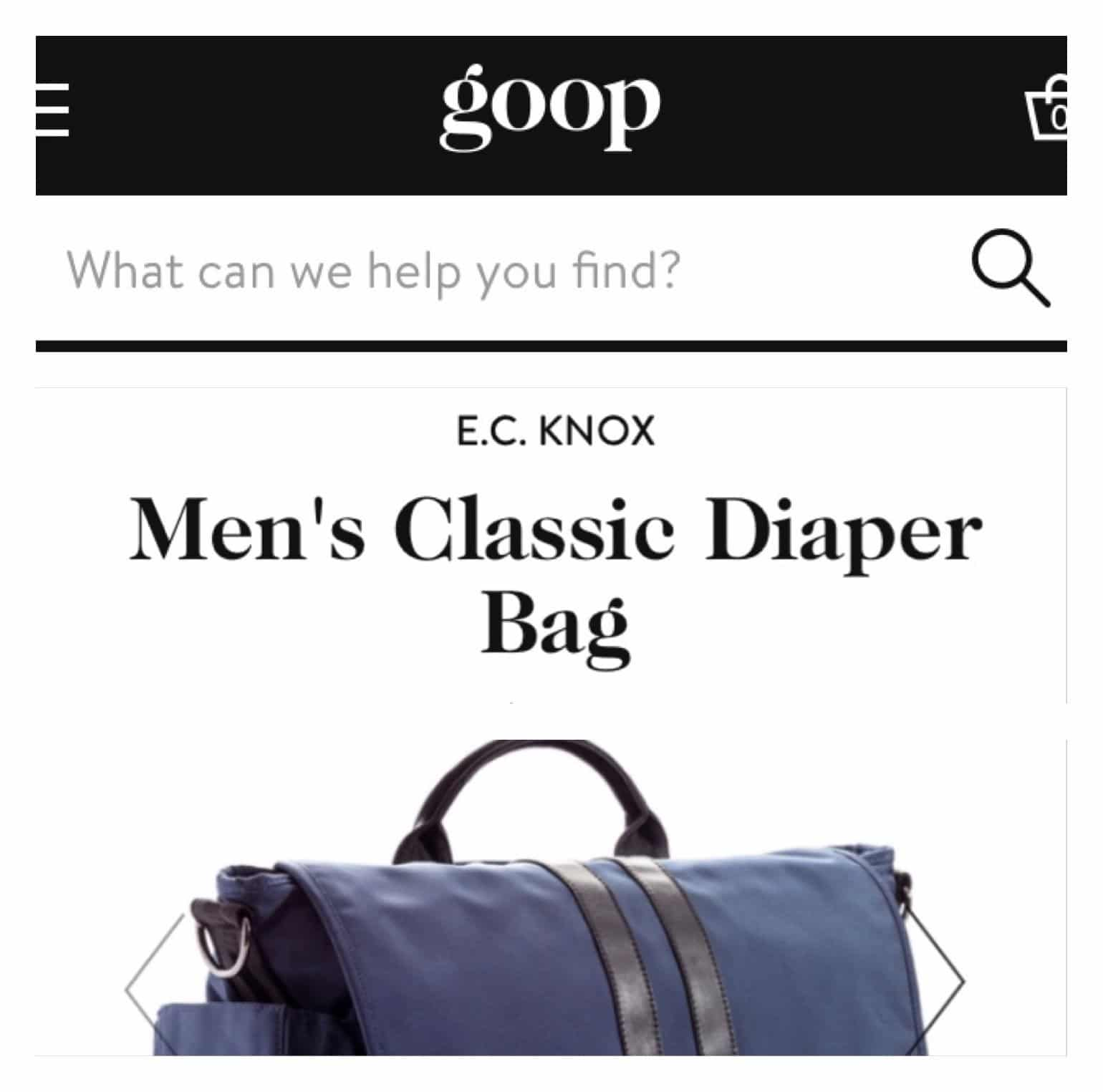 E.C.Knox shopping page on goop