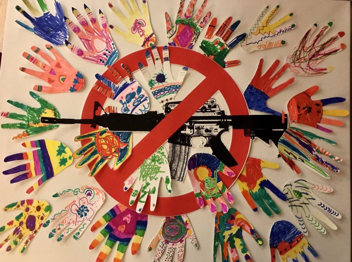 gun control artwork by children