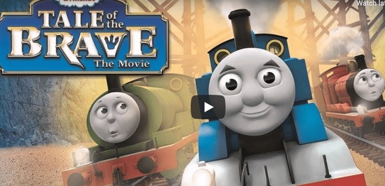 """movie poster for """"thomas the train"""" """"tail of the brave"""""""