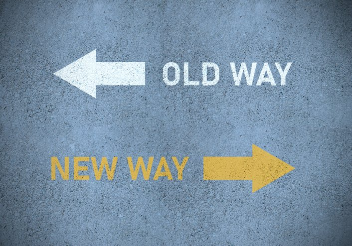 "picture of road signs saying ""old way"" and ""new way"" meaning gendered anything is one of the worst baby shower gifts"